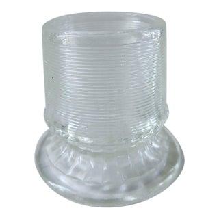 Vintage Clear Glass Match Holder Striker For Sale