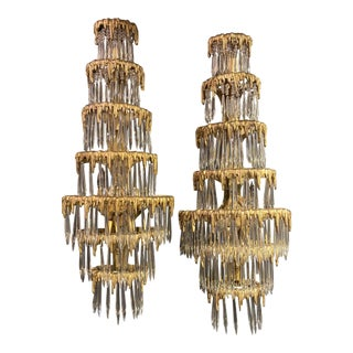 1920s Caldwell Waterfall Sconces - a Pair For Sale