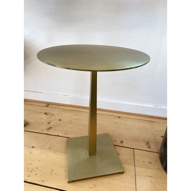 Contemporary Contemporary Brass Side Tables For Sale - Image 3 of 3