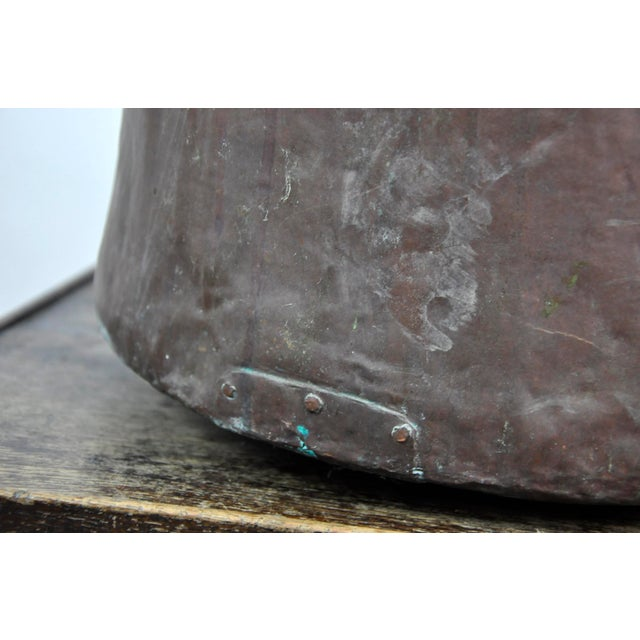 Antique French Copper Cauldron Kettle For Sale - Image 11 of 13