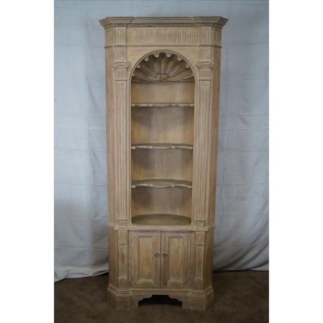 Baker Scrub Pine Architectural Corner Cabinet - Image 2 of 10