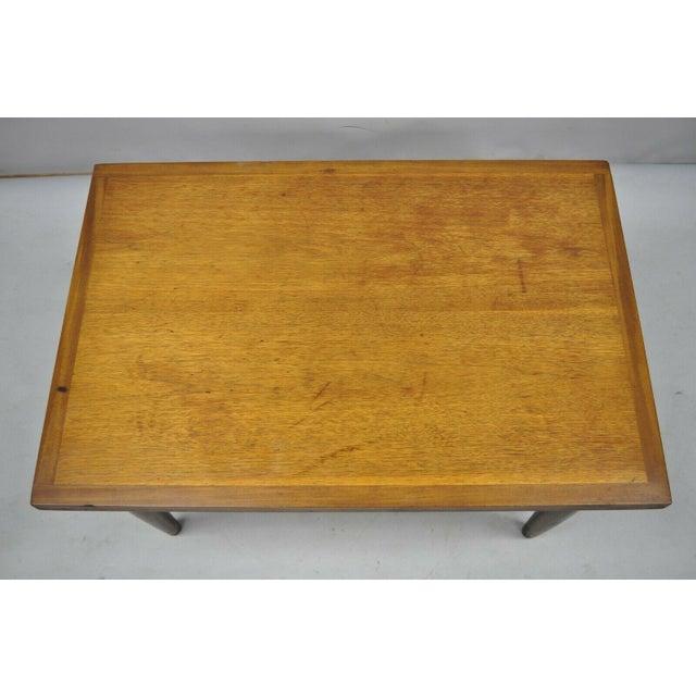 Mid-Century Modern Mid Century Modern Walnut Rectangular Side Table For Sale - Image 3 of 11