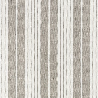 Schumacher X Vogue Living Horst Stripe Fabric in Grisaille For Sale