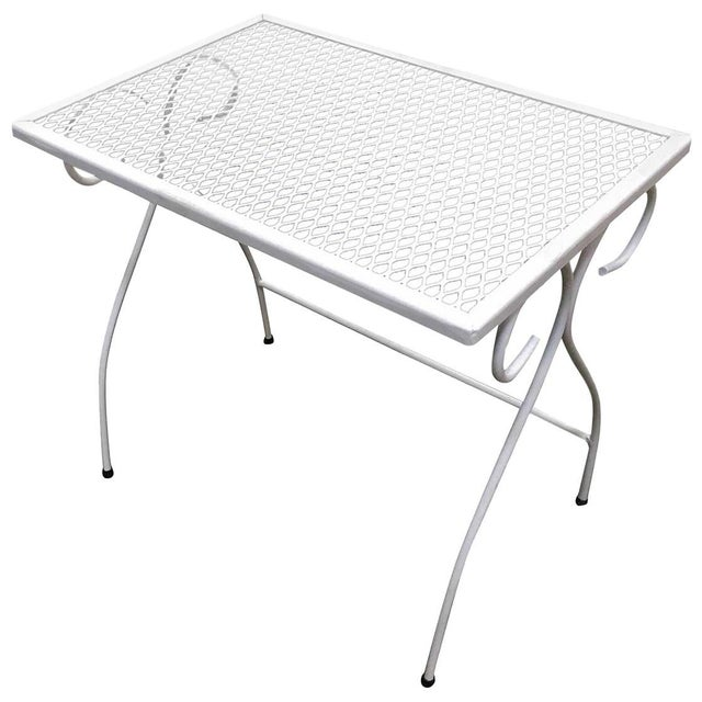 bd13a7730b1b Metal Woodard Mesh Steel Outdoor Patio Nesting Side Tables