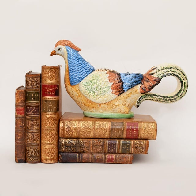 C. 1970s Fine Mottahedeh Pheasant Figurine or Dish For Sale - Image 11 of 13