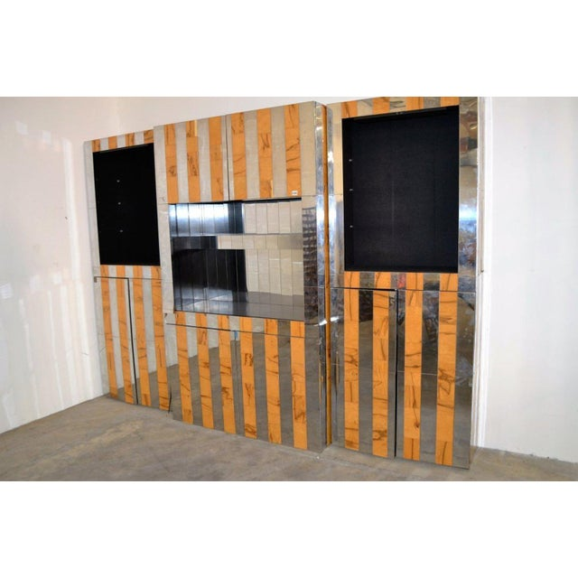 """Mid-Century Modern 1970s Paul Evans """"Cityscape"""" Wall System For Sale - Image 3 of 6"""