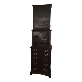 Traditional Hickory Furniture Company Park Avenue Tall Cabinet For Sale