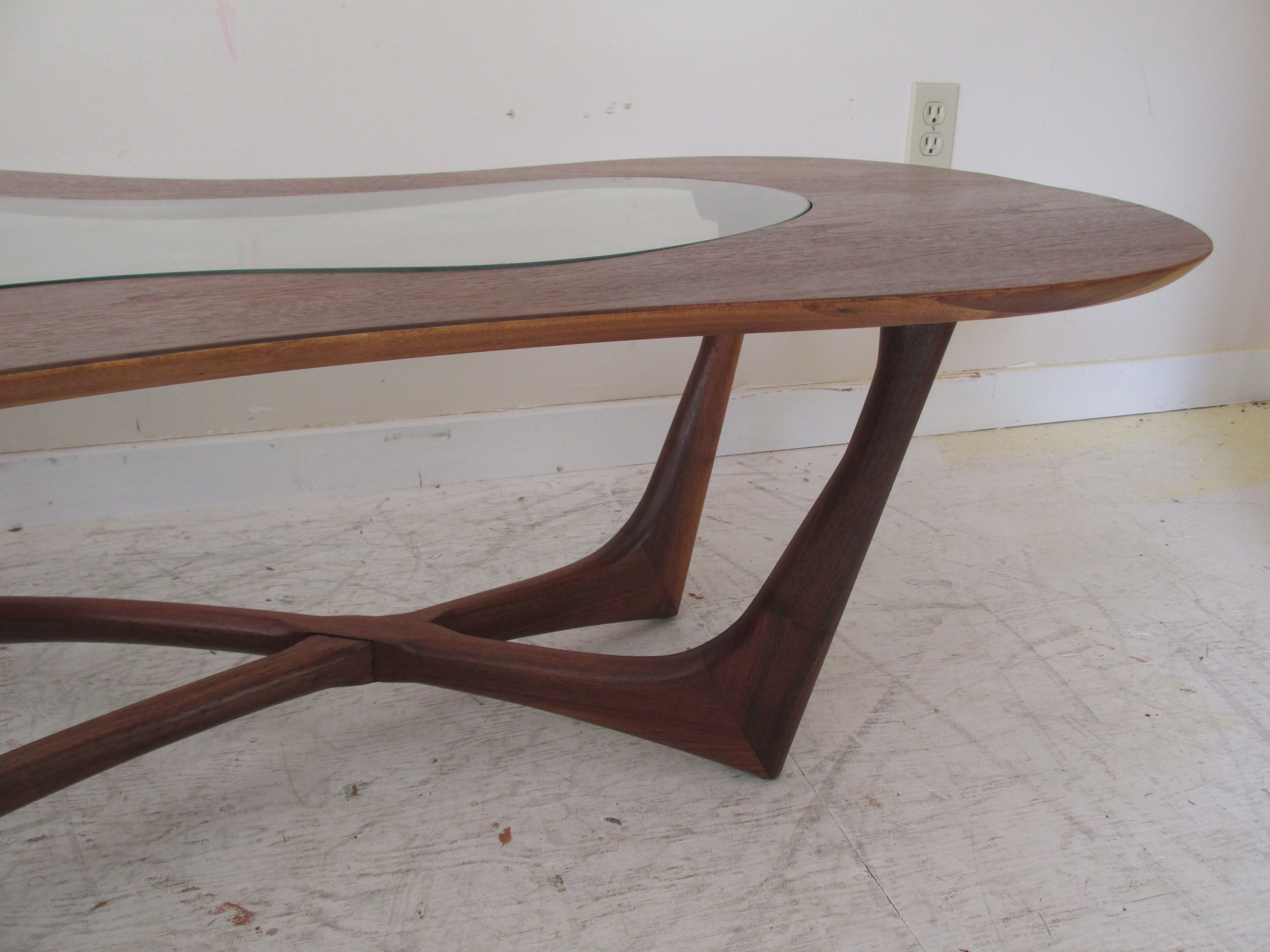 Vintage Biomorphic Coffee Table by Erno Fabry Chairish