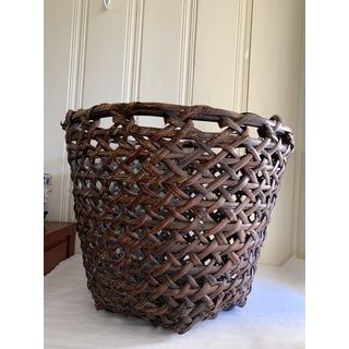 Large Wood Decor and Storage Basket Preview