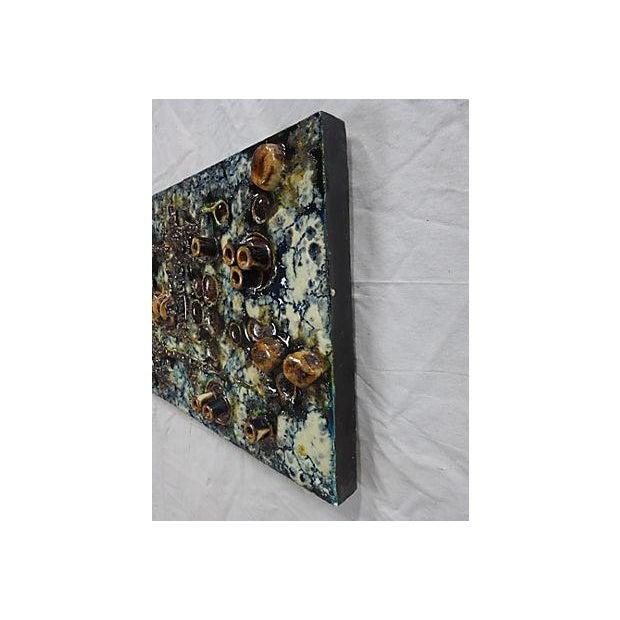 Mid-Century Helmut Friedrich Schäffenacker Ceramic Wall Plaque For Sale - Image 4 of 7