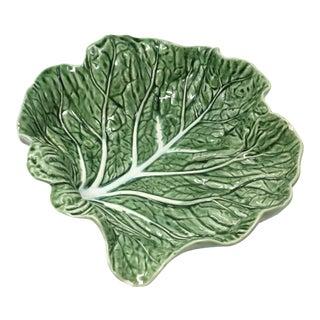 Vintage Bordallo Pinheiro Green Cabbage Ware Serving Bowl For Sale