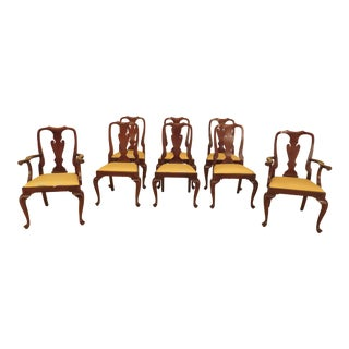 1990s Vintage Henkel Harris Mahogany Dining Room Chairs- Set of 8 For Sale