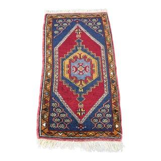 Vintage Turkish Handmade Rug - 1′7″ × 3′2″