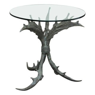 Vintage Bronze Antler Table For Sale