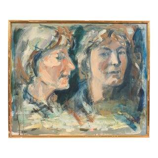 Contemporary Double Portrait by Mogens Hoff For Sale