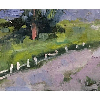 """""""Fence in the Road"""" Oil Landscape Painting Preview"""