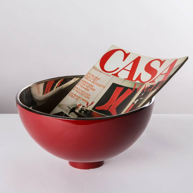 """Lacquer """"Kon Kao"""" Silver Plated Centerpiece by Lino Sabattini For Sale - Image 7 of 7"""