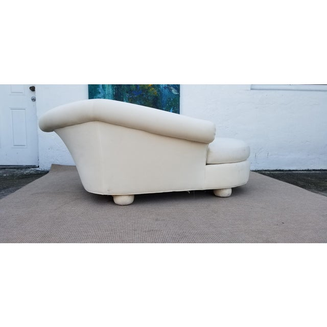 1980s Vintage Vladimir Kagan for Preview Chaise Lounge For Sale - Image 4 of 10