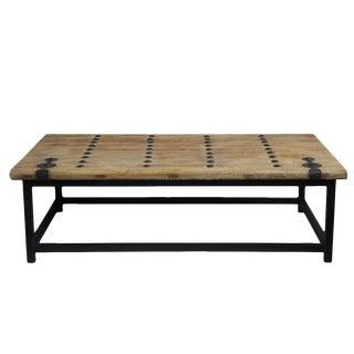 Old Elm Door Coffee Table For Sale