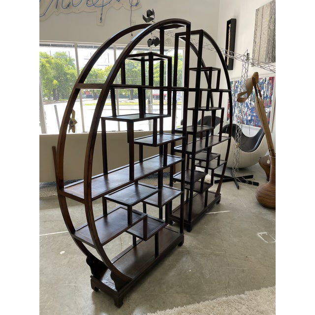 1960s Asian Style Wooden Etagere For Sale In Miami - Image 6 of 11