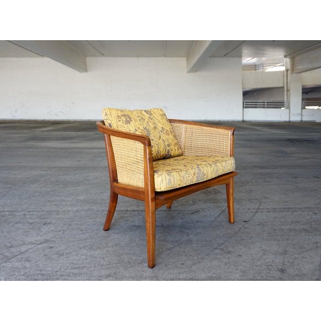 Milo Baughman Cane Back Lounge Chair - Image 3 of 6