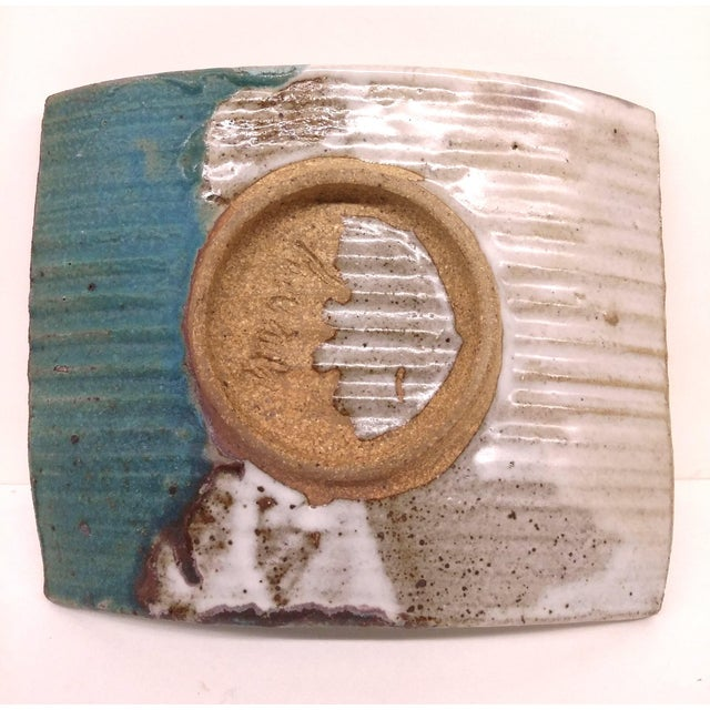 Ceramic Mid-Century Artisan Ceramic Sushi Tray For Sale - Image 7 of 10