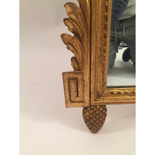 Neoclassical Gold Leaf Mirror - Image 8 of 11