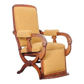 1920s French Reclining Armchair For Sale