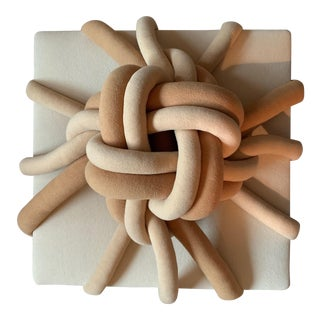 1980s Coil Tube Knot Fiber Sculptural Wall Hanging For Sale