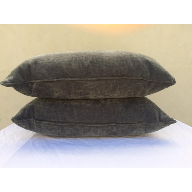 Velvet Cape Cod Blue Pillows - a Pair - Image 4 of 8