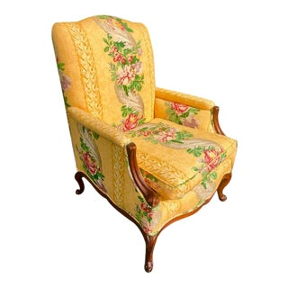 19th Century French Country Upholstered Chair For Sale
