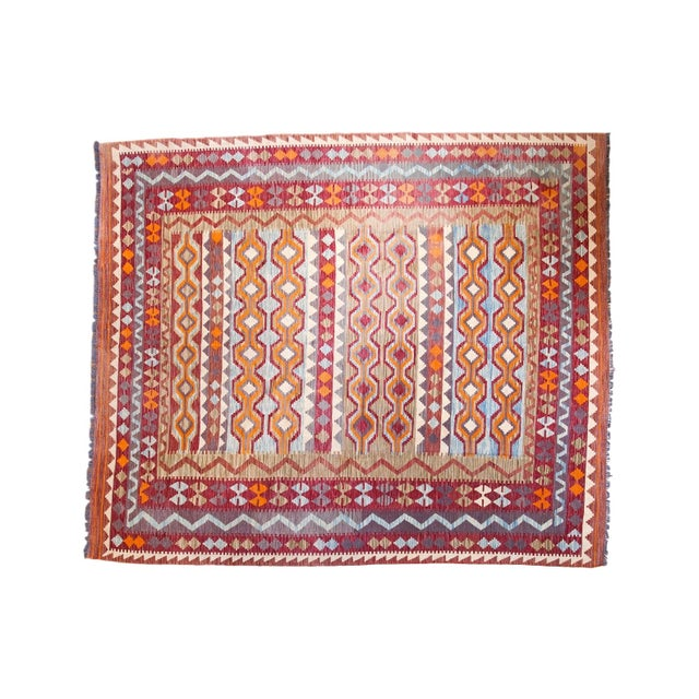 "Contemporary Kilim Carpet - 7'10"" x 9'6"" - Image 1 of 6"