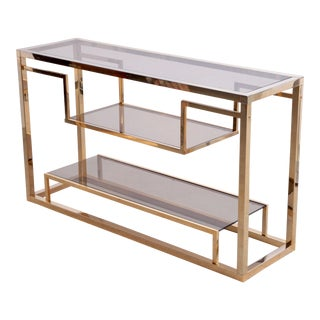 Brass Console Table or Shelf by Romeo Rega