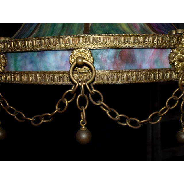 Antique Chandelier. Stained Glass Lamp For Sale In Atlanta - Image 6 of 6