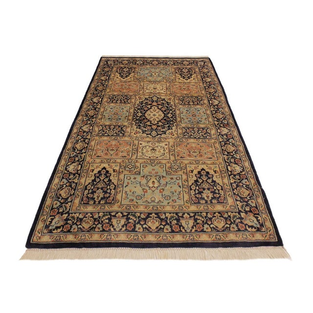 Contemporary 1980s Vintage Bokhara Wanetta Wool Rug - 4′2″ × 6′10″ For Sale - Image 3 of 8