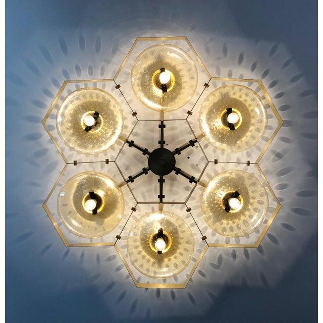 Italian Hive Flush Mount by Fabio Ltd For Sale - Image 3 of 13