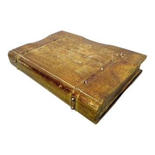 Vintage Florentine Wood Book Box For Sale