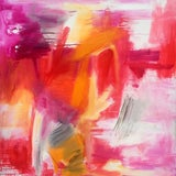 """Image of """"Morning Glory"""" by Trixie Pitts Large Abstract Expressionist Oil Painting For Sale"""