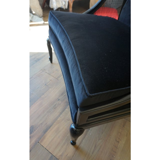 1960s Vintage Ponti Inspired Ebonized High Style Mastercraft Club Chair For Sale In New York - Image 6 of 13