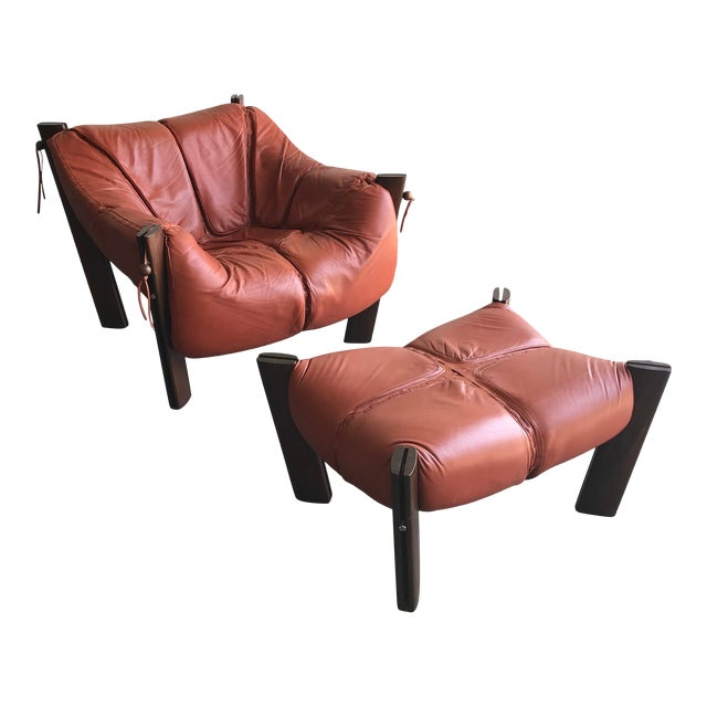 Mid Century Modern Model Mp-212 Percival Lafer Lounge Chair and Ottoman For Sale