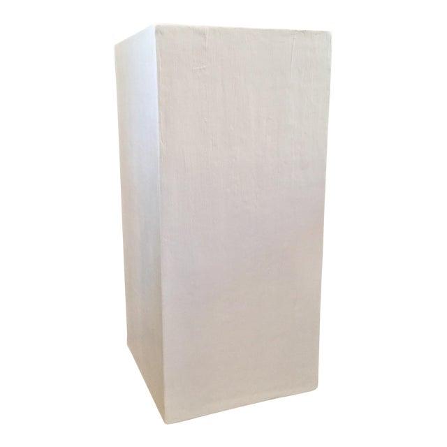 Modern Raw Plaster Pedestal For Sale