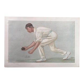 Original 1902 Vanity Fair Cricket Print by Digby Loder Jephson For Sale
