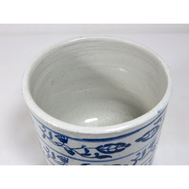 Blue Antique American Stoneware Kitchen Coffee Jar For Sale - Image 8 of 13