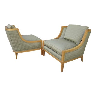 1950s Hollywood Regency Dorothy Draper for Henredon Lounge Chairs - a Pair
