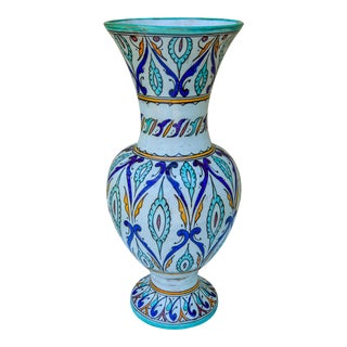Fine Moorish-Patterned Ceramic Vase For Sale
