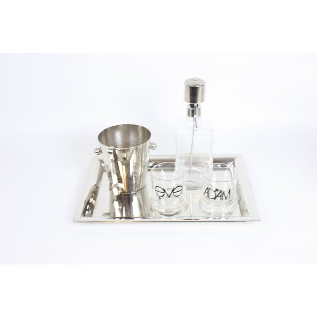 Godinger Bar Set with Tray - Image 3 of 5