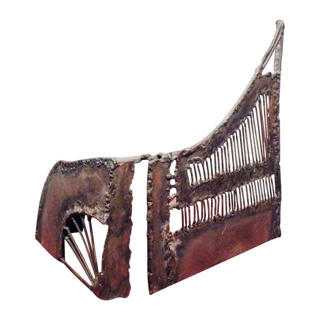 Mid-Century Modern Brutalist Metal Sculpture - Image 1 of 6