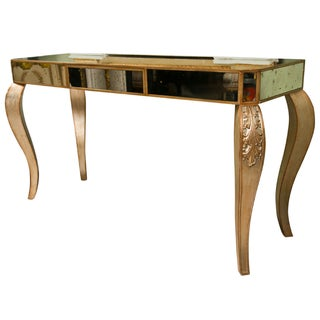 Decorative Mirrored Console Table For Sale