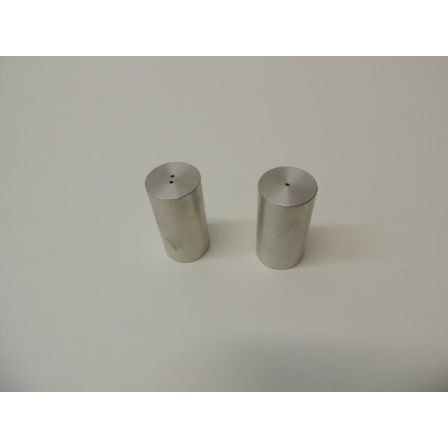 Modern Late 20th Century Tubular Chrome Round Salt and Pepper Shakers For Sale - Image 3 of 6