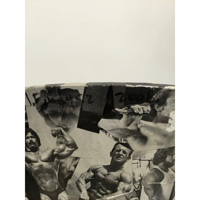 Bodybuilder Decoupage Modernist Chair - Image 10 of 11